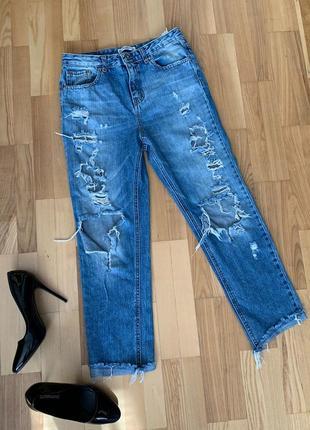 Стильные джинсы, бойфренд, мом джинсы, моми , бойфренды, рваные джинсы