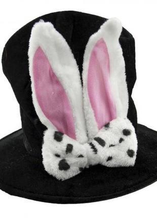 Шляпа маскарадная кролик унисекс велюровая