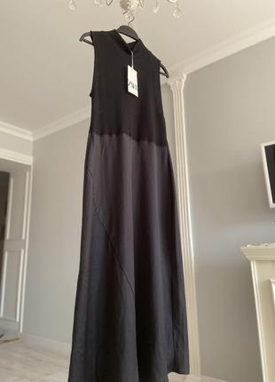 Комбінована сукня zara в білизняному стилі