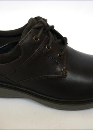 Мужские кожаные туфли merrell world т. кор. оригинал кожа3 фото
