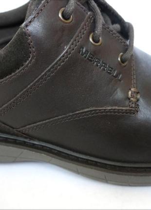 Мужские кожаные туфли merrell world т. кор. оригинал кожа7 фото