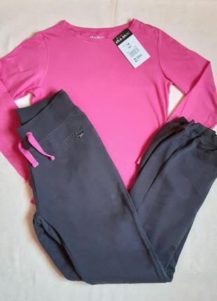 """Спортивный костюм розово серый с начесом """"yigga"""" германия на 14 лет (164см)"""