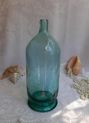 Графин бутыль антикварная штоф толстостенное стекло тяжелая редкая сифон бутылка 2 литра