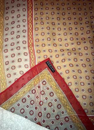 Шелковый брендовый платочек в стиле chanel/цепи☘️