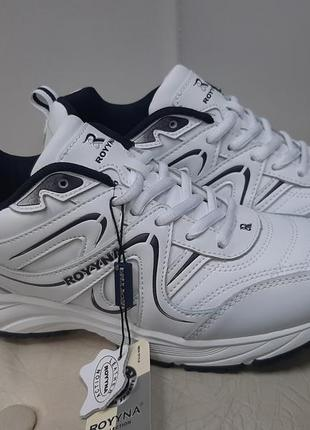 Кожаные белые кроссовки bona. (36-41р)