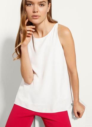 Шикарная фактурная блуза безрукавка reality studio размер s