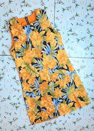 🌿1+1=3 красивый сарафан короткое платье на молнии хлопок поплин в цветах, размер 44 - 46