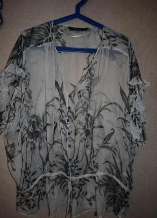Блузка zara шёлковая