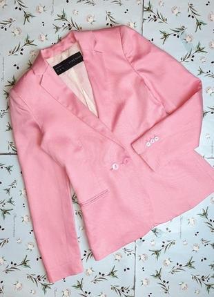 🌿1+1=3 фирменный розовый женский двубортный пиджак жакет блейзер zara, размер 42 - 44