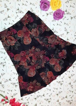 🌿1+1=3 шикарная юбка миди с цветами французкого бренда bonmarche, размер 50 - 52