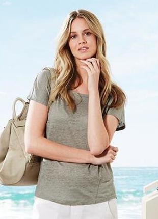 Легенькая льняная блуза-футболка от тсм tchibo размер 48-50 евро наш 54-56
