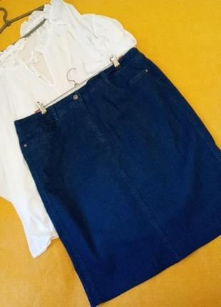Крутая джинсовая юбка с карманами!
