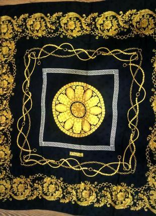 Винтажный большой шелковый платок по типу gucci renato balestra original italia