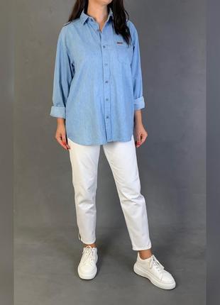Рубашка джинсовая свободного кроя lee cooper