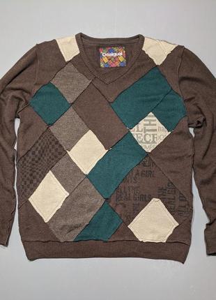В наличии мужской desigual шикарный свитер, джемпер, пуловер шерсть