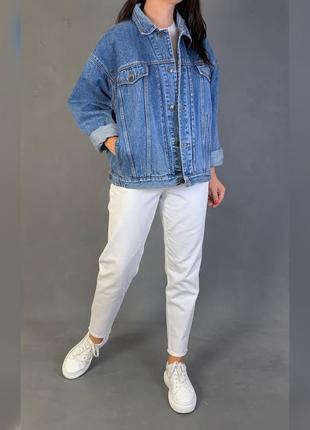 Джинсовая куртка объёмная джинсовка винтаж j.f.gee