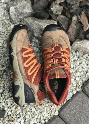 Фирменные кожаные трекинговые кроссовки keen verdi waterproof 38-38.5
