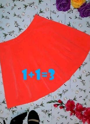 🌿1+1=3 фирменная яркая нарядная короткая оранжевая юбка madam rage, размер 44 - 46
