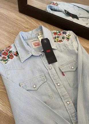 Шикарная джинсовая рубашка levi's