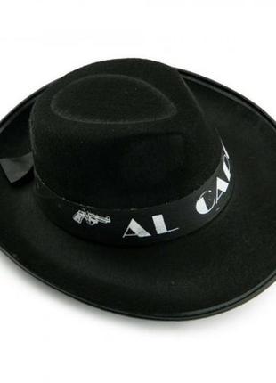 Шляпа al capone аль капоне маскарадная