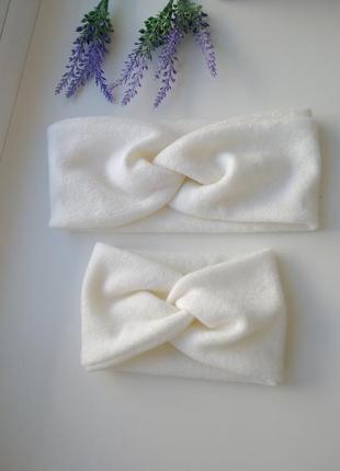 Теплая чалма повязка ангоровая тюрбан фемели лук