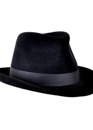 Мужская маскарадная фетровая черная шляпа