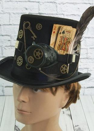 Шляпа в стиле стимпанк авантюрист уильям