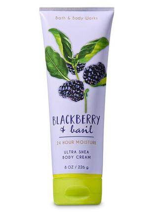 Крем для тела bath and body works blackberry & basil ultra shea body cream 226
