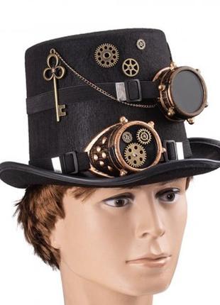 Шляпа в стиле стимпанк паропанк доктор бенедикт
