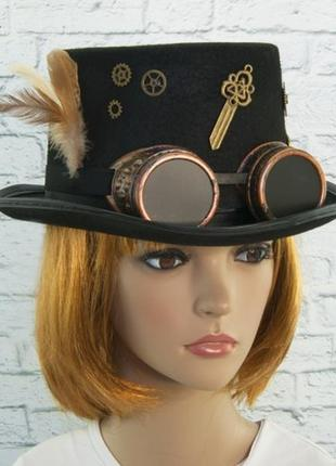 Шляпа цилиндр в стиле стимпанк инженер джейми