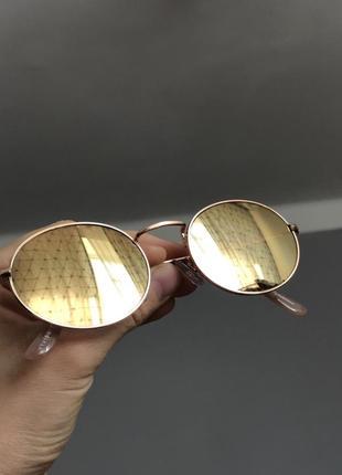 Трендовые солнцезащитные очки с uv 400 зеркальные