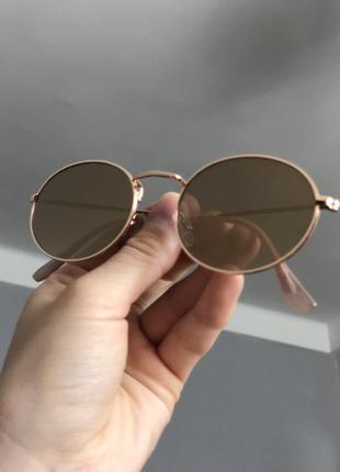 Трендовые солнцезащитные очки с uv 400 зеркальные3 фото