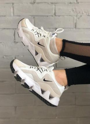 Нереально стильные женские кроссовки nike ryz 365 бежевые