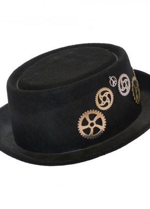 Шляпа с шестеренками в стиле стимпанк паропанк