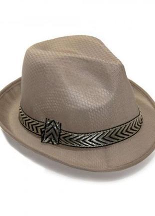 Шляпа федора мужская маскарадная текстиль