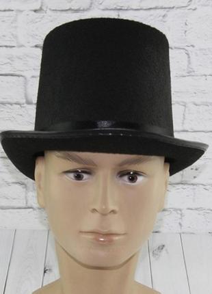 Шляпа цилиндр маскарадная мужская черная