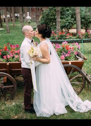 Платье свадебное (айвори)возможен торг