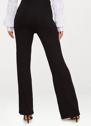 Летние черные тонкие трикотажные базовые брюки prettylittlething