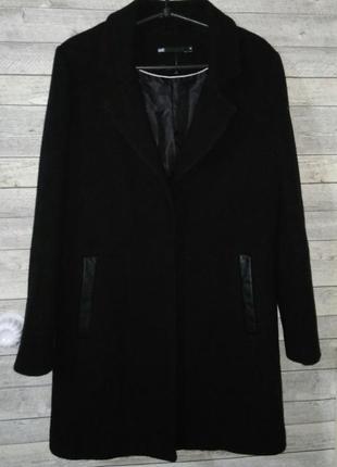 Шерстяное пальто с карманами ше 44-46р. возможен торг
