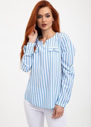 Блуза женская цвет бело-голубой