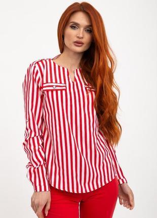 Блуза женская цвет красно-белый