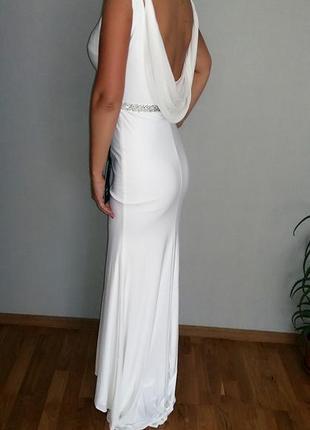 Свадебное, вечернее платье-рыбка mascara london 10-12/ m-l размер