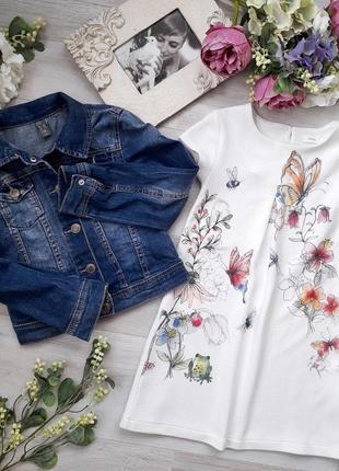 Комплект джинсова куртка і плаття zara, next