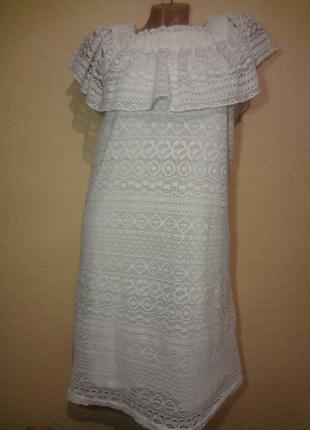 Красивое нежное кружевное платье flame xs s
