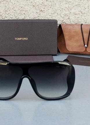Tom ford очки женские солнцезащитные черные с градиентом