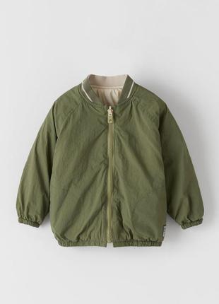 Легкая двухсторонняя курточка zara р 3-4-5 лет