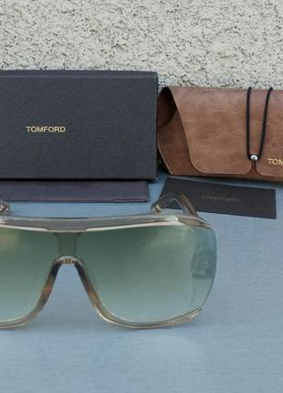 Tom ford очки женские солнцезащитные бежевые стильные