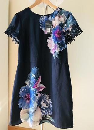 Шифоновое женское платье цветы oasis