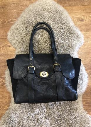 Шикарная вместительная сумка кожа бренда baldinini