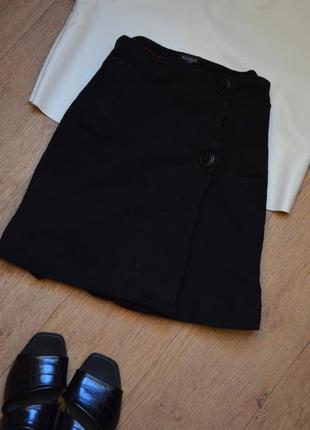 Hobbs оригинал шерстяная юбка на пуговицах мини короткая теплая качественная